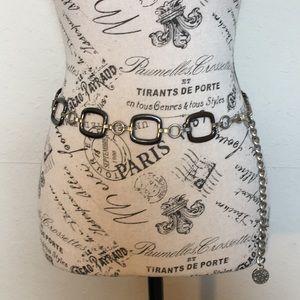 Anne Klein chain belt with lion head detail.  35in